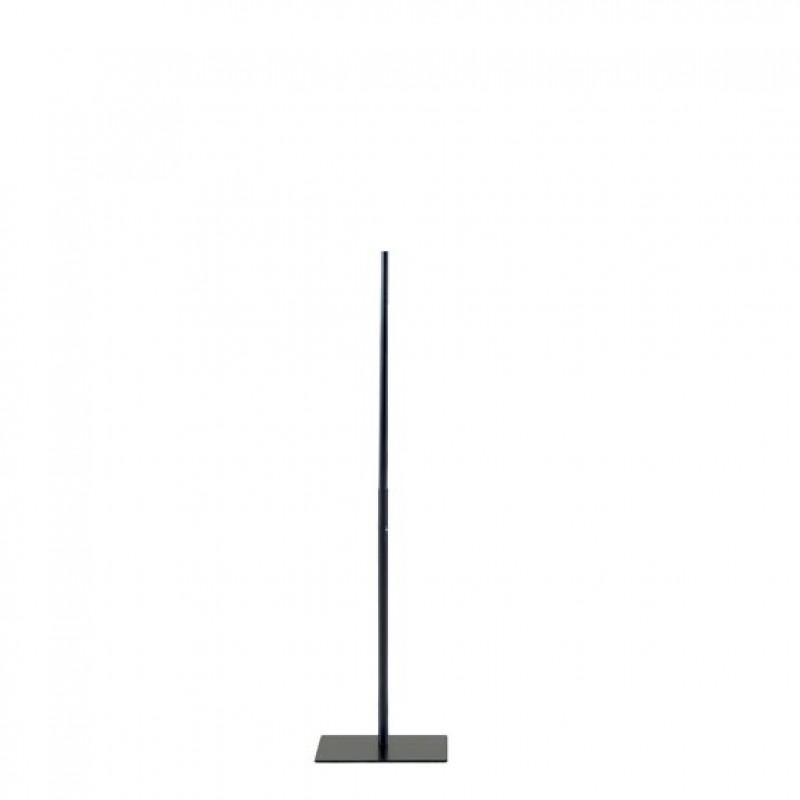 STATIV TIL TORSOER OG BUSTER – DARROL – SORT - FIRKANTET BASE – 118 cm